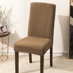 2020新款金針提花裙擺款椅套彈力連體椅子套 跨境外貿專供