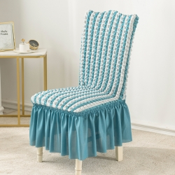 2020款泡泡布格裙擺款椅套彈力連體沙發套 跨境外貿專供
