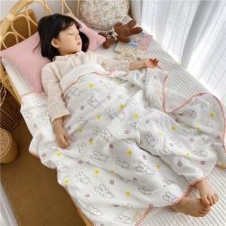 吖噢 2020年春夏新品棉花糖饰边浴巾 baby兔