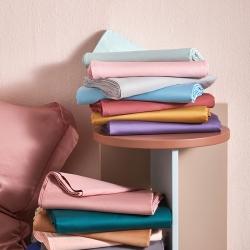 (总)邸喜60s长绒棉纯色素色四件套40s全棉纯棉寝室套件