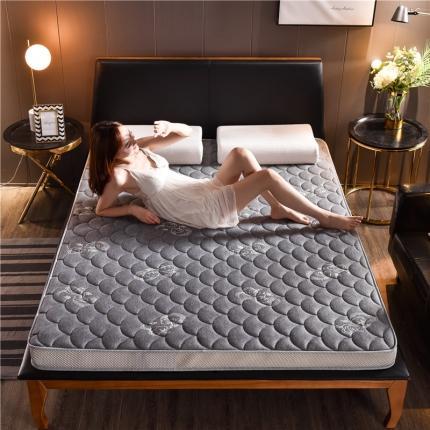 钻爱床垫2021乳胶记忆棉立体透气床垫立体加厚10cm蝶恋灰