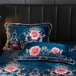 (總)翔瑞 2019加厚金貂絨水晶絨法蘭絨床裙款枕套