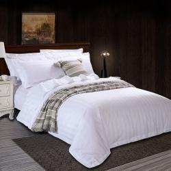 爱贝馨 2019新款酒店宾馆80支三公分缎条四件套床笠款