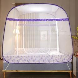 盛夏縵舞 大頂蒙古包免安裝蚊帳學生2米防蚊布蚊帳 葉影紫