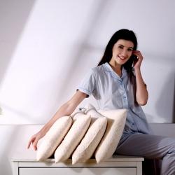 沃兰国际 超柔针织棉碎乳胶枕头乳胶颗粒儿童护颈枕芯(三规格)