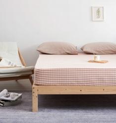 MRPIG全尺寸定制全棉色織水洗棉床笠單件純棉床罩床墊保護套