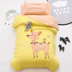 幼儿园三件套垫套被套新款垫套A类水洗棉无荧光纯棉