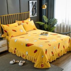 (總)雨洋家紡 2020新款加厚金貂絨床裙床蓋