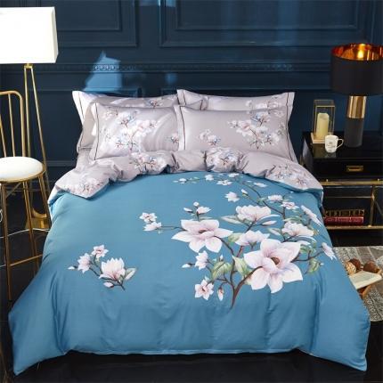 (总)格里芬家纺爆款全棉13372大版印花四件套床笠款
