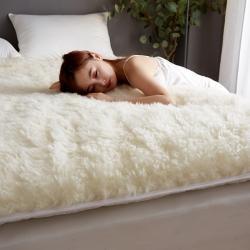 (總)迪樂妮 新款100%澳洲羊毛軟床墊床褥 白色