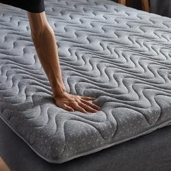 (總)迪樂妮新款單邊針織乳膠抗壓床墊5-10厘米厚灰色波紋款