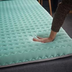 (總)迪樂妮 新款單邊針織乳膠抗壓床墊5-10厘米厚 水綠色