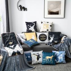 (总)沐风 2020沐风家居新款多功能休闲抱枕毯