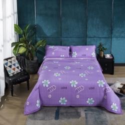 莎果2020新款超柔水晶绒直边单床盖备货充足 8十里花香