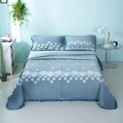 莎果 2020新款水晶绒花边床盖备货充足 花团锦簇