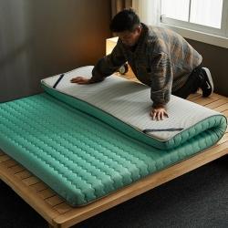 (总)迪乐妮 新款单边针织乳胶抗压床垫5-10厘米厚 水绿色