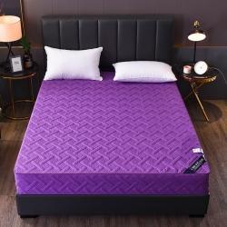 情書家紡 2020款六面全包五面夾棉床笠 紫色