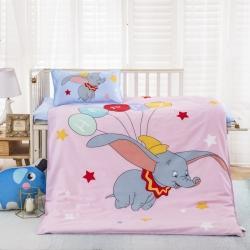 樂秀家紡 全棉卡通兒童幼兒園被子三件套純棉六件套含芯小飛象