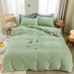 哲茜家紡 2020網紅新款水洗棉四件套床上用品學生宿舍三件套