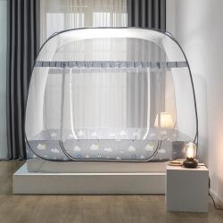 鴻和蚊帳 2020新款大頂防蚊布款免安裝蒙古包 氣球灰-大頂