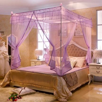 伊而梦蚊帐 8803一厘阳光坐床拉链蚊帐 紫色
