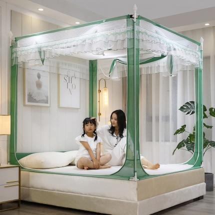 伊而梦蚊帐 新款幸福时光系列坐床式蚊帐 新贵绿