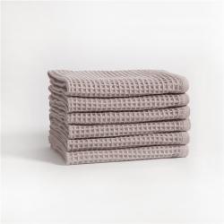 宜色家2020新款棉蜂窩紋毛巾系列 方巾-灰色34*35cm