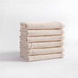 宜色家2020新款棉蜂窩紋毛巾系列面巾-生成色34*74cm