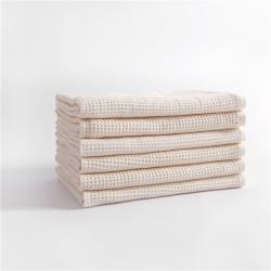 宜色家2020新款棉蜂窩紋毛巾系列浴巾生成色70*140cm
