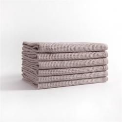 宜色家2020新款棉蜂窩紋毛巾系列浴巾-灰色70*140cm