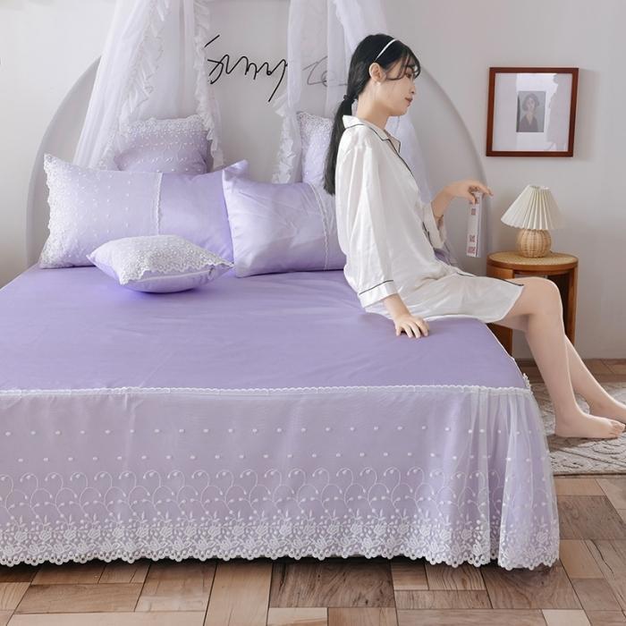 HM家紡 2020新款甜心系列冰絲涼席三件套 甜心-紫色