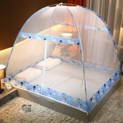 冰雪之夏 2020新款免安裝蒙古包蚊帳 藍色