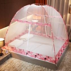 冰雪之夏 2020新款免安裝蒙古包蚊帳 粉色