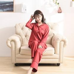 今喜 2020天絲60S睡衣褲女士款(適合90-130斤) 睡衣-酒紅