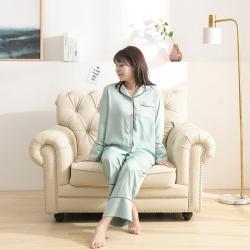 今喜 2020天丝60S睡衣裤女士款(适合90-130斤) 睡衣-浅绿