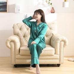 今喜 2020天絲60S睡衣褲女士款(適合90-130斤) 睡衣-深綠