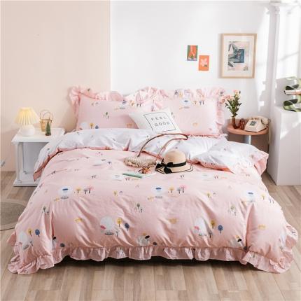 (总)迪欧芙 2020新款清新系韩式床单款四件套