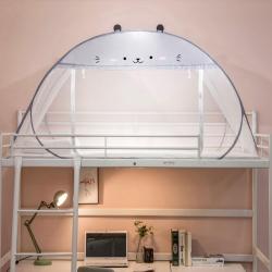 學生免安裝蒙古包蚊帳新款加密0.9/1米防蚊宿舍上下鋪單人