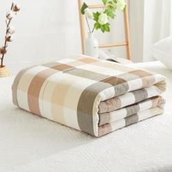 暖陽 可水洗100%里外全棉棉花被空調被純棉夏被 清閑