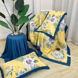 (總)家家發歐式40S天絲夏被四件套鏤空床單枕套空調被