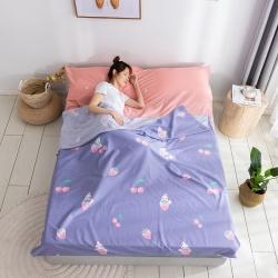 雅居尚品 2020新款純棉隔臟睡袋 櫻桃草莓