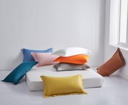 (總)臻家居 新款60支長絨棉純色枕套48x74cm一對裝