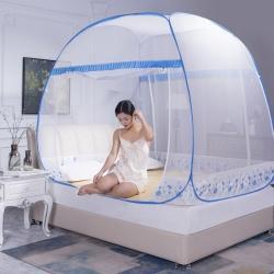初心 2020新款大頂免安裝蚊帳加高蒙古包 幸福生活-藍