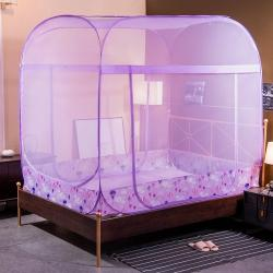 初心 2020新款大頂免安裝蚊帳加高蒙古包 紫色熱氣球