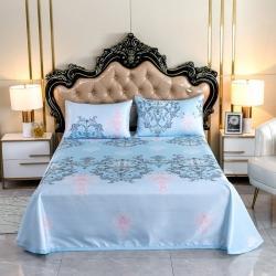 (總)金米萊家紡 2020年新款機洗涼席床單款冰絲席三件套