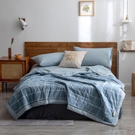 (总)平头哥 2020新款全棉水洗棉夏被纯棉被子