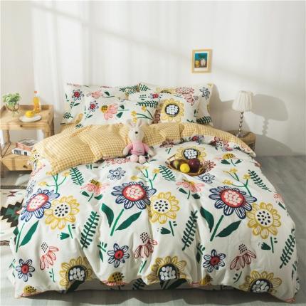 眠屿 2020新款13372全棉四件套 向日葵的梦