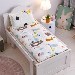 喵贝儿童婴儿隔尿垫防水可洗纯棉防尿通用幼儿园宝宝床垫动物森林