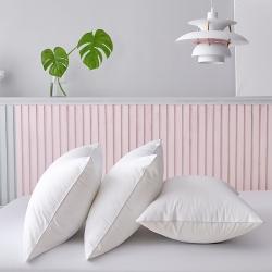 賽格時代家居  枕芯  全棉防雨布親膚羽絲絨枕 白色