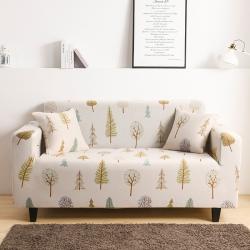 2020新款三人印花沙發套全包萬能套罩沙發墊木森林